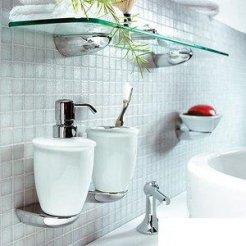 аксессуары для ванной комнаты, бумагодержатели, ершики, полочки