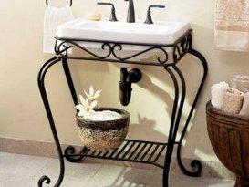 Кованая мебель для ванной комнаты и туалета на заказ в Москве