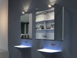 Шкафчик для ванной комнаты навесной, какие виды бывают и правила