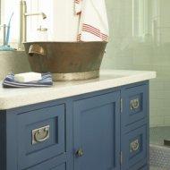 Синяя мебель для ванной комнаты - Производство мебели для ванной и