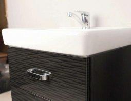 Товар Мебель для ванной комнаты Америна 80 рифт черная 80см