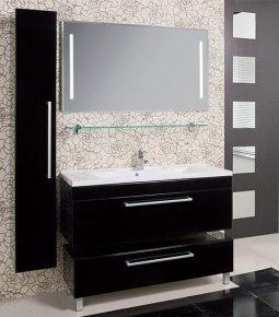 Товар Мебель для ванной комнаты Мадрид 100 черная с ящиком 100см