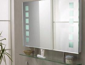 Зеркало с полкой в ванную комнату: угловые варианты, с подсветкой